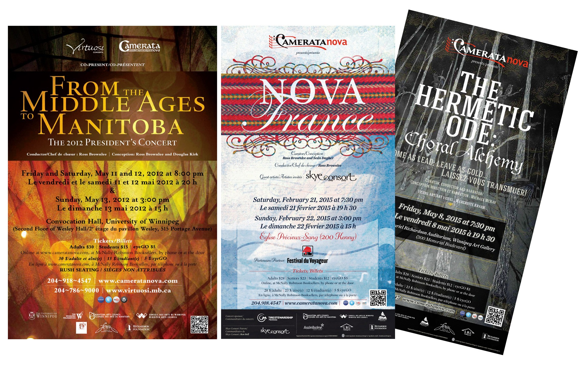 Camerata Nova Concert Posters