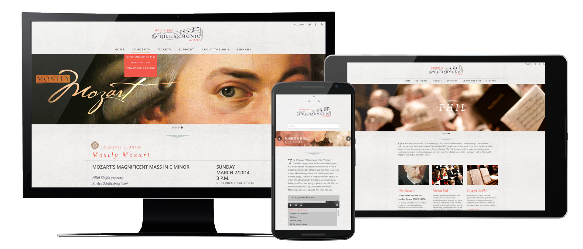 Winnipeg Philharmonic Choir Website