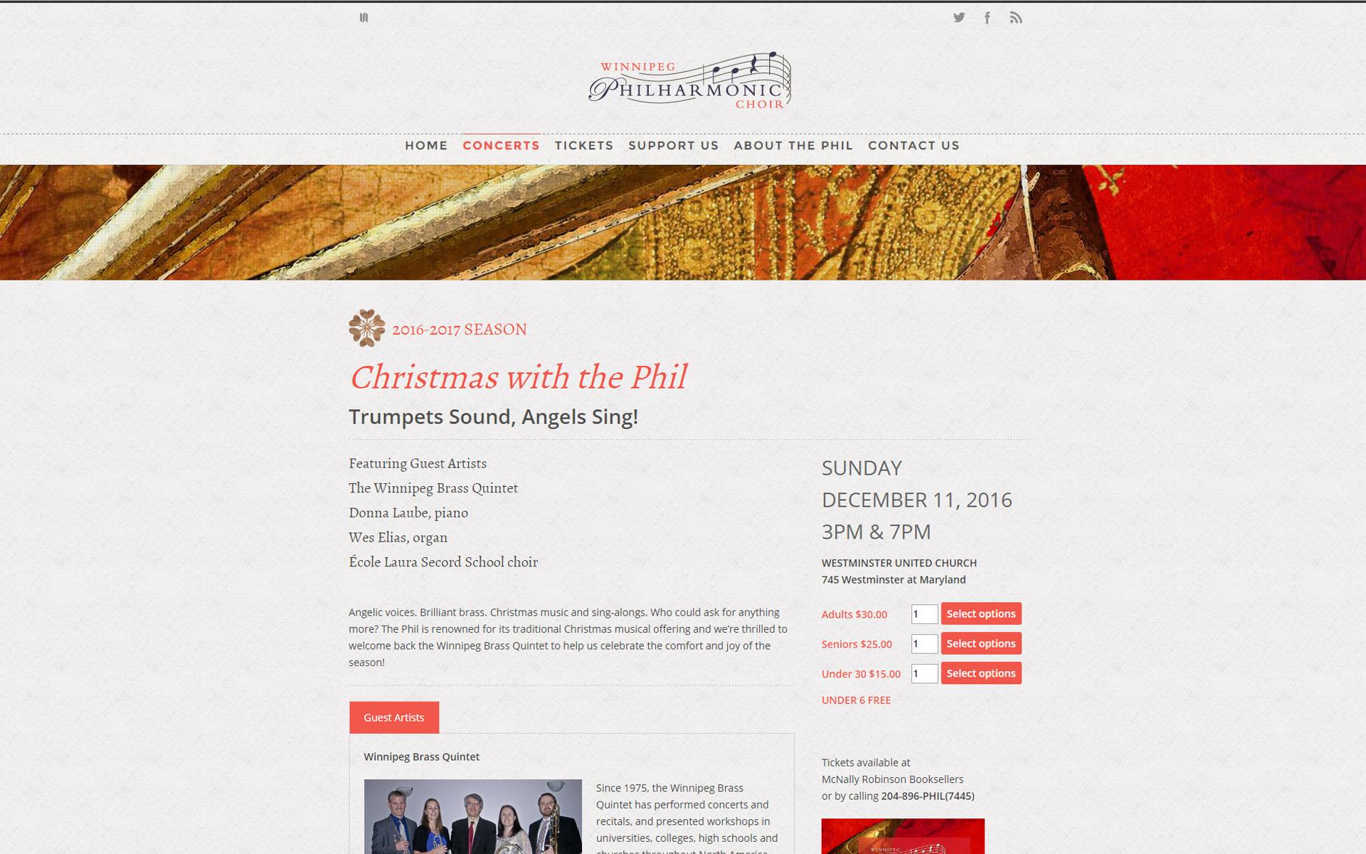 Winnipeg Philharmonic Choir Website Concert detail