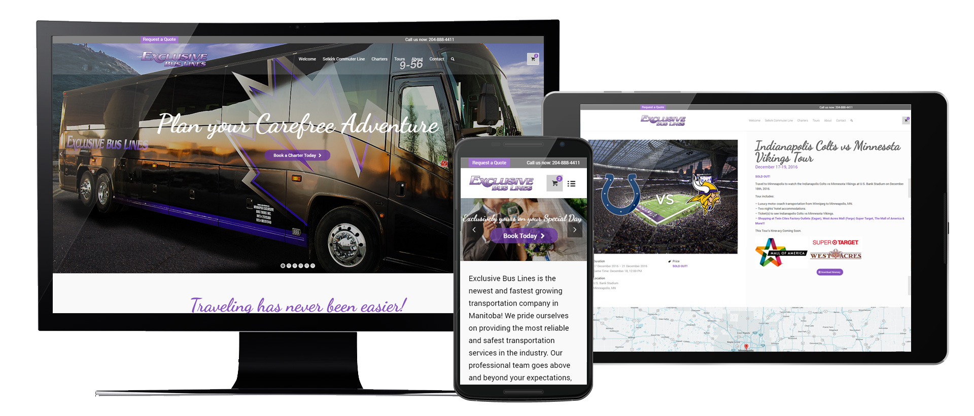 Exclusive Bus Lines Website Development