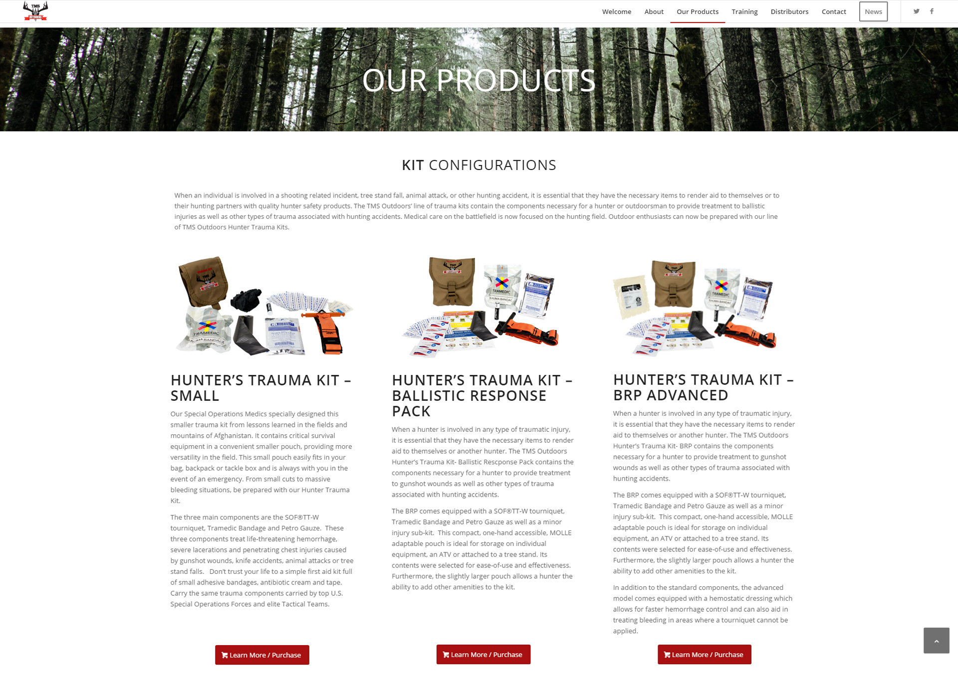 TMS Outdoors Website