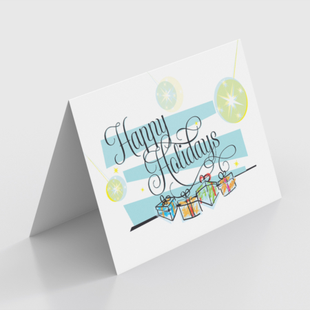 Happy Holidays Tent Card